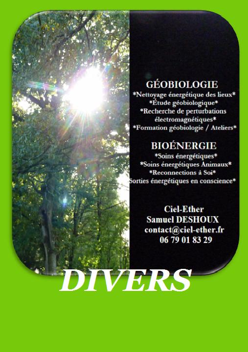 Divers / soins énergétiques - Géobiologie - Soins de l'habitat
