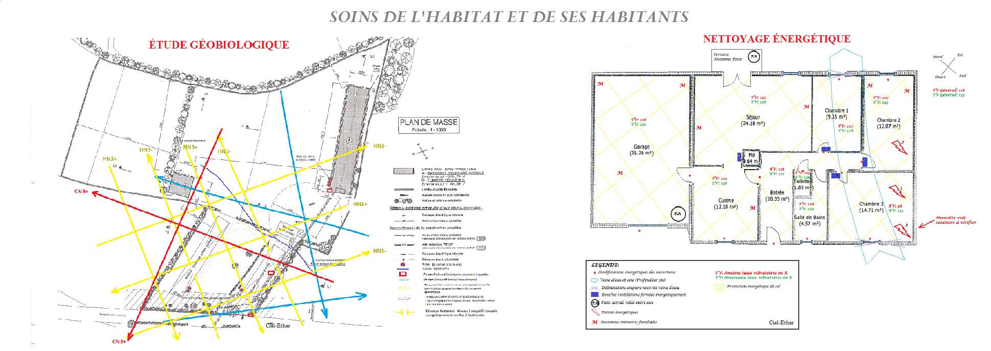 Mon Travail de géobiologue : Soins de l'habitat - Etude géobiologique - Nettoyage énergétique des lieux