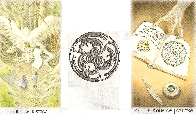 arcanes d'équinoxe d'automne - Justice et roue de la fortune combinées