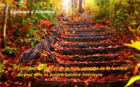 équinoxe d'automne, chemin d'équilibre extérieur - intérieur